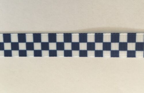 Blue and White ribbon 1m long 16mm wide Police
