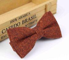 New Vintage Rusty Brown Tweed/ Wool Bow Tie. Great Reviews. U.K. Seller