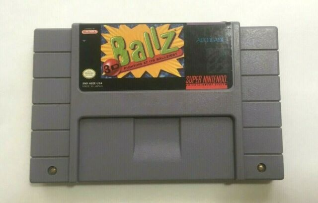 3d Ballz  Super Nintendo Entertainment System  1994  Snes Ballz 3d Free Shipping
