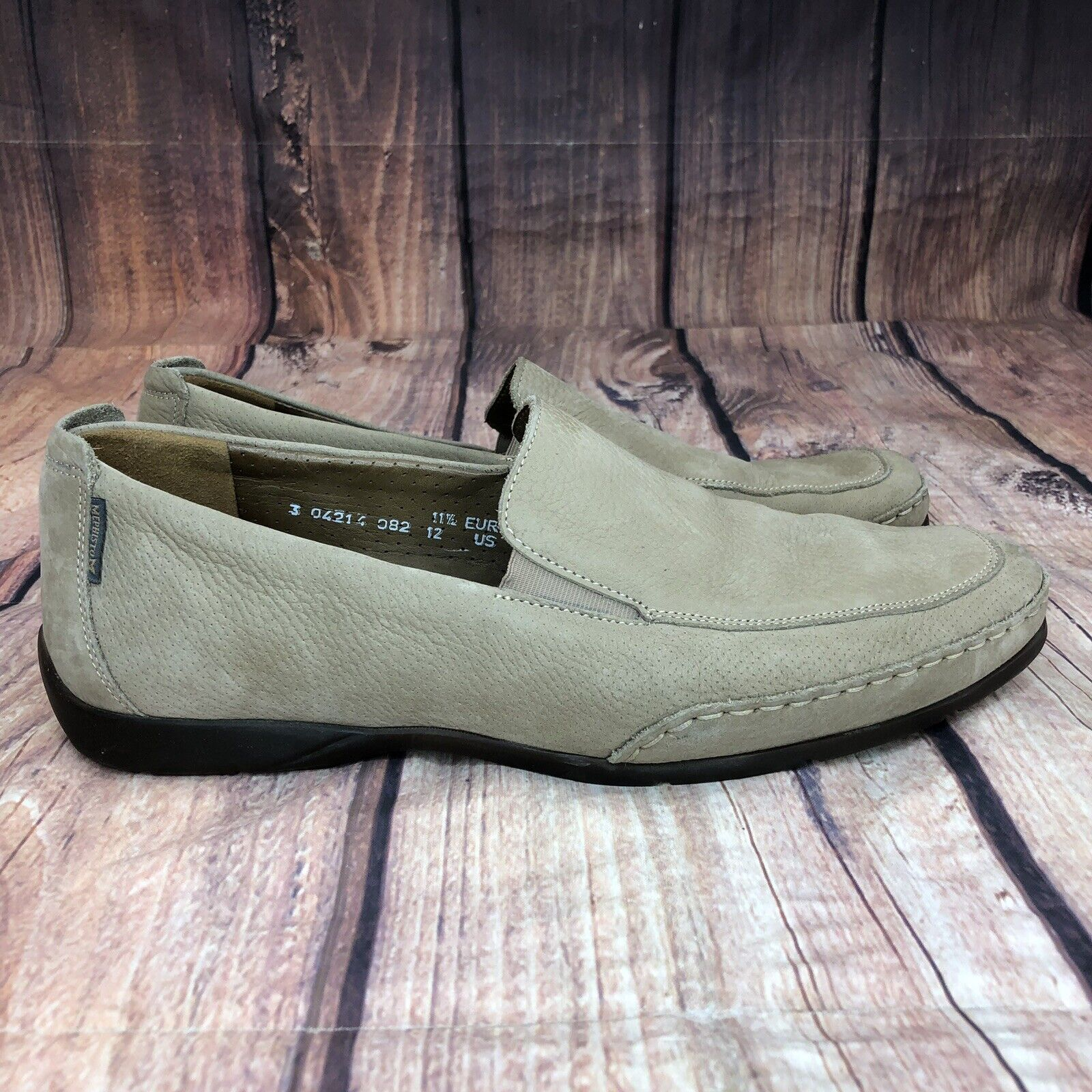 Mephisto Edlef Slip On Loafers Men Size 12 Casual Cool-Air Sole Loafers NEW