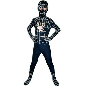 Image is loading Children-Boys -Venom-Black-Spiderman-Cosplay-Halloween-Party-  sc 1 st  eBay & Children Boys Venom Black Spiderman Cosplay Halloween Party ...