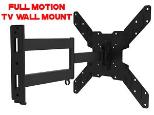 Corner-Full-Motion-TV-Wall-Mount-Articulating-Bracket-32-47-50-55-Inch-LED-LCD
