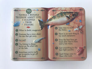 GiftCo Collectible Tin Life 10 Lessons About Life From Fishing 6X4X2""