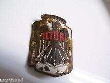 Schutzblechemblem Schutzblechfigur Oldtimer Fahrrad  Emblem Victoria  alt origin