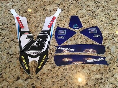 TEAM YAMAHA RACING GRAPHIC KIT DECAL YFZ450R 450R MANUEL ANDUJAR #73 HINSON NEW