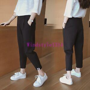 Korean-Womens-Loose-Fit-Trousers-Girls-Sweatpants-Harem-Pants-Fashion-Size-S-2XL
