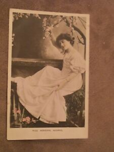 1908-fr-BB-real-photo-Postcard-Miss-Adrienne-Augarde-Edwardian-Actress