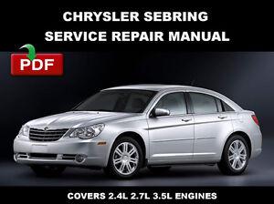 2010 chrysler sebring service manual
