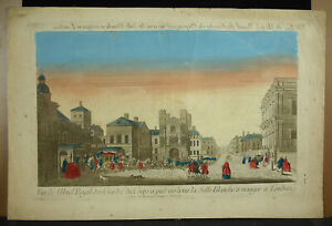 Print-18th-c1770-London-View-L-039-Hotel-Royal-Guards-Of-Parts-England