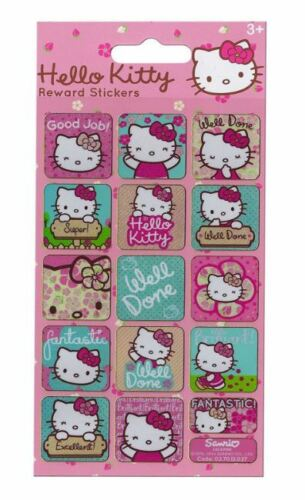 Paper projects HELLO KITTY PINK FLOWERS  re-usable foil Rewards stickers Age 3