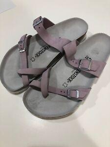 BIRKENSTOCK BIRKENSTOCK Mayari Nubuck Leather Lilac Thong Sandals Women's Size 6 from Birkenstock | ShapeShop