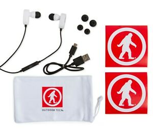 Outdoor Tech Tags 2.0, Bluetooth, Wireless, Sweat proof In-Ear Earbuds, White