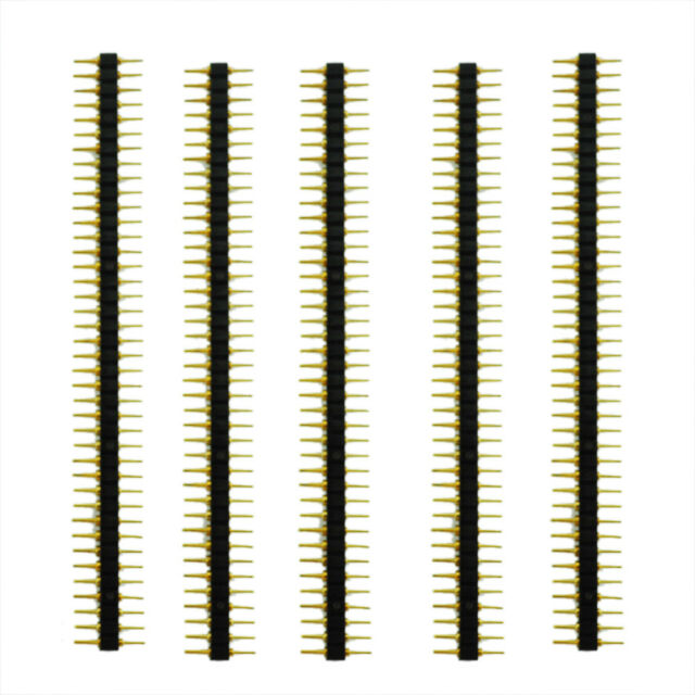 New 5 Pcs Plastic 2.45mm Pitch 40 Position Single Row Round Male Pin Header B2Y4