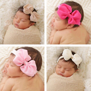 10pcs-Colors-Baby-Girl-Newborn-Chiffon-Bowknot-Headbands-Cute-Hair-Band-headwear