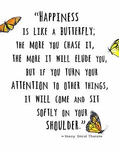 Thoreau Quote Wall Art Print Happiness Is Like A Butterfly