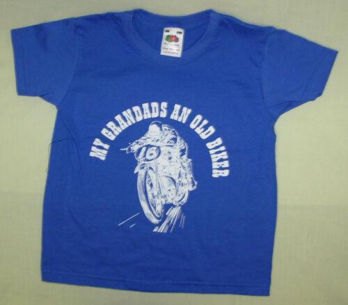 """Ragazzi//Ragazze Slogan T-shirt /""""I miei nonni un vecchio stile Biker/"""" 5 COLORI 5 Taglie"""