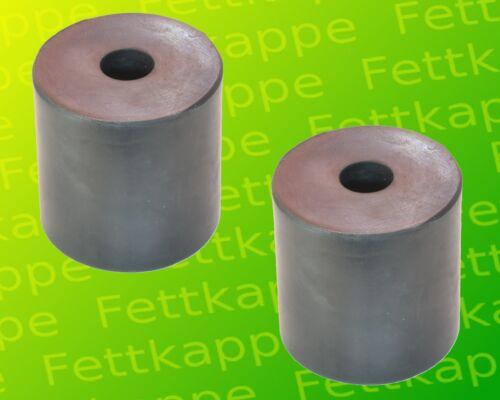 2 X Tampon en Caoutchouc 63x63mm pour Remorque Rda HP300 HP350 HP400 Ressort