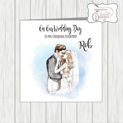 Personalised Card To My Husband To Be On Our Wedding Day The Gorgeous Groom NAME