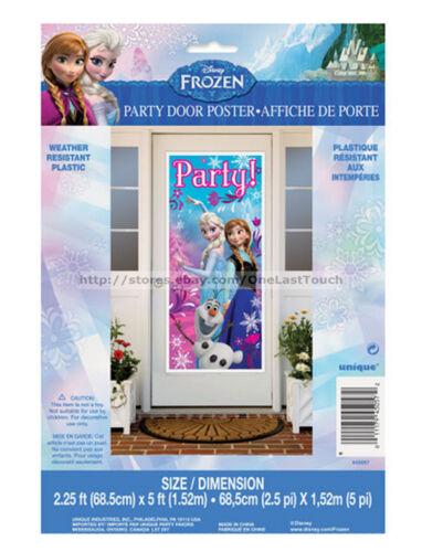 DISNEY FROZEN Plastic Poster BIRTHDAY PARTY DOOR Weather Resistant DECORATION