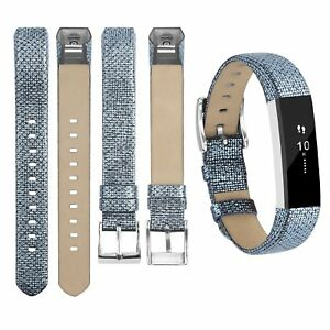 Leather-Bands-Adjustable-Replacement-Sport-Strap-Wrist-Blue-For-Fitbit-Alta-HR