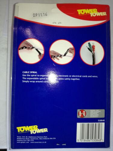 SPIRALE Avvolgere Cavo ordinato 14mm riutilizzabile le bande Torre Brand