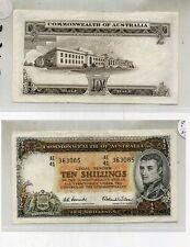 1954 AUSTRALIA TEN SHILLINGS CURRENCY NOTE XF AU RARE