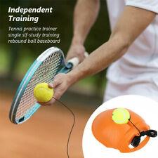 Single Tennis Trainer Training Practice Rebound Ball Back Base Tool Free hats