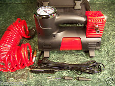 12 Volt Heavy Duty AIR COMPRESSOR with STORAGE BAG, HOSE and More Car Truck Tire
