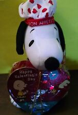 "Peanut Snoopy Bon Appetit Cook Hat 8"" Plush w/ Whitman's Sampler Chocolates New"