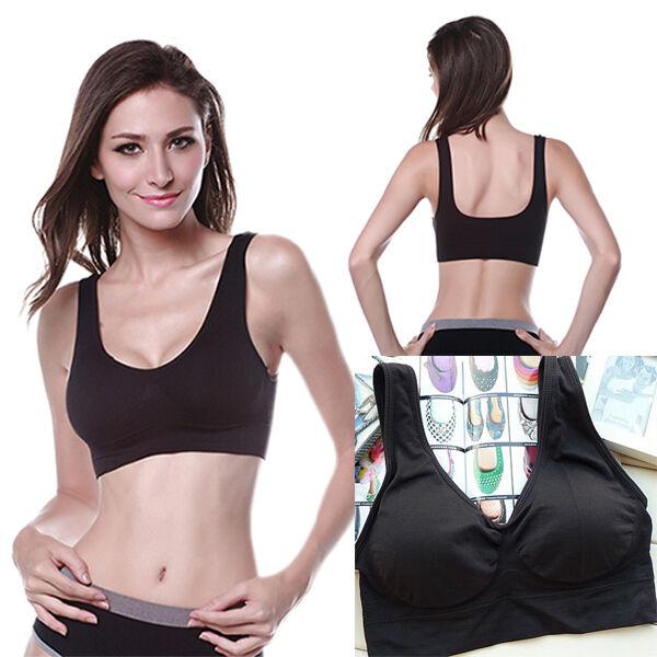 Vogue Lady Shear Seamless Leisure Yoga Vest Sports Bra Tops Size M~XL