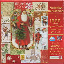 SunsOut VICTORIAN CHRISTMAS 1000 pc Jigsaw Puzzle Punch Studio Santa