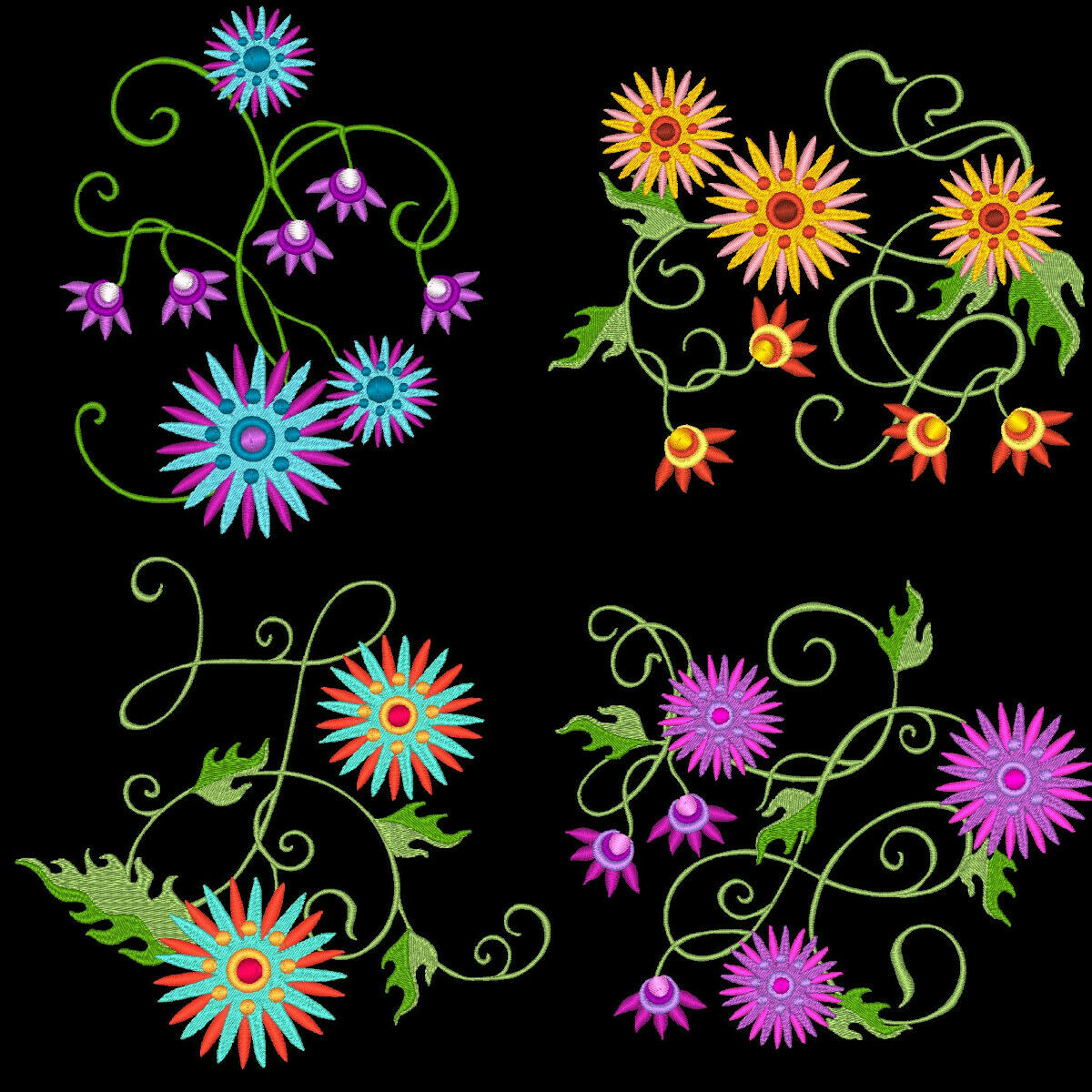 5 inch-10 Machine Embroidery Designs CD FREE SHIPPING FLUTTER AROUND