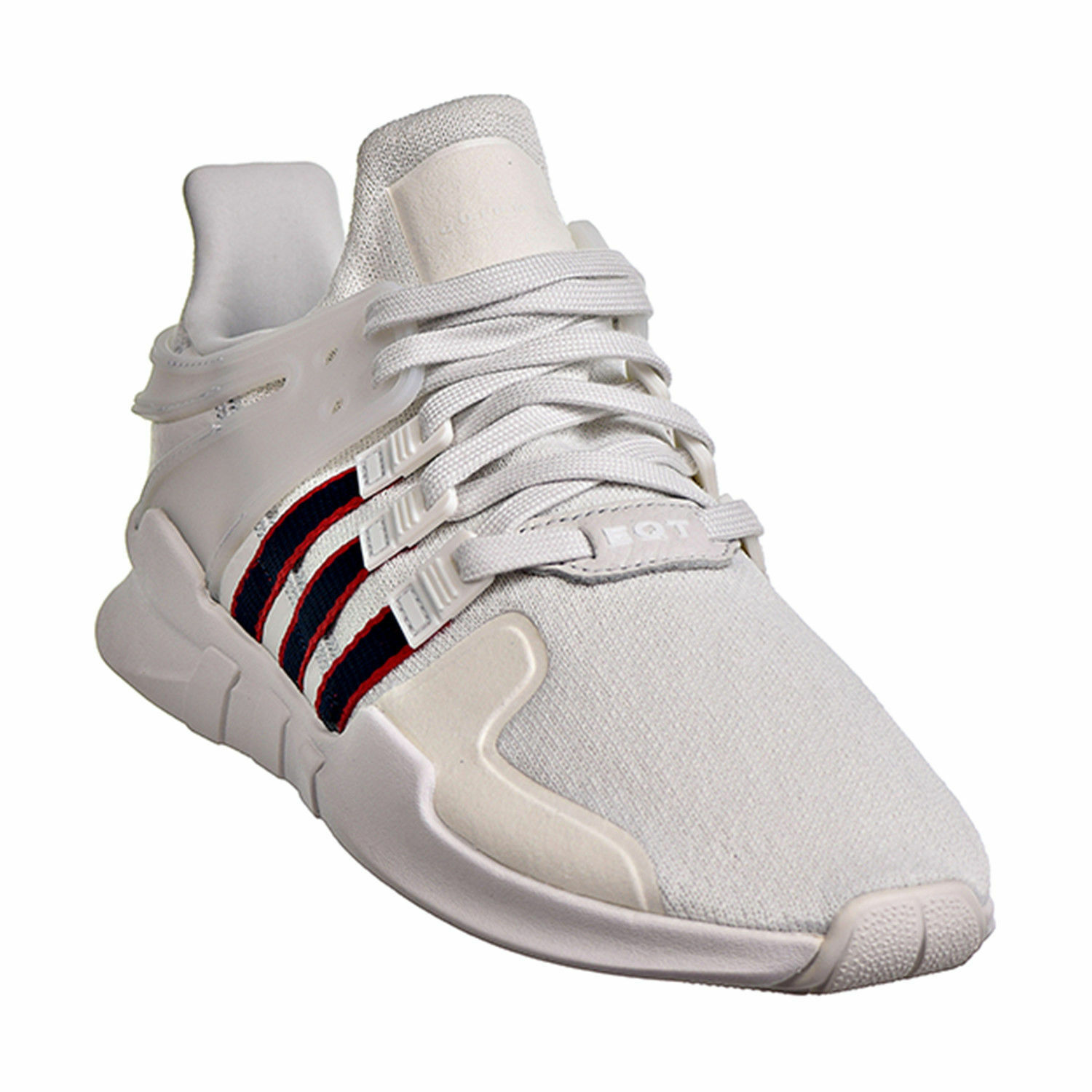 New Adidas Equipment Support ADV Men's Shoes Crystal White/Navy/Scarlet BB6778