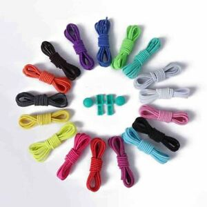 No-Tie-Elastic-Locking-Shoelaces-Lock-Shoe-Laces-For-Trainer-Runners-Kids-Adults