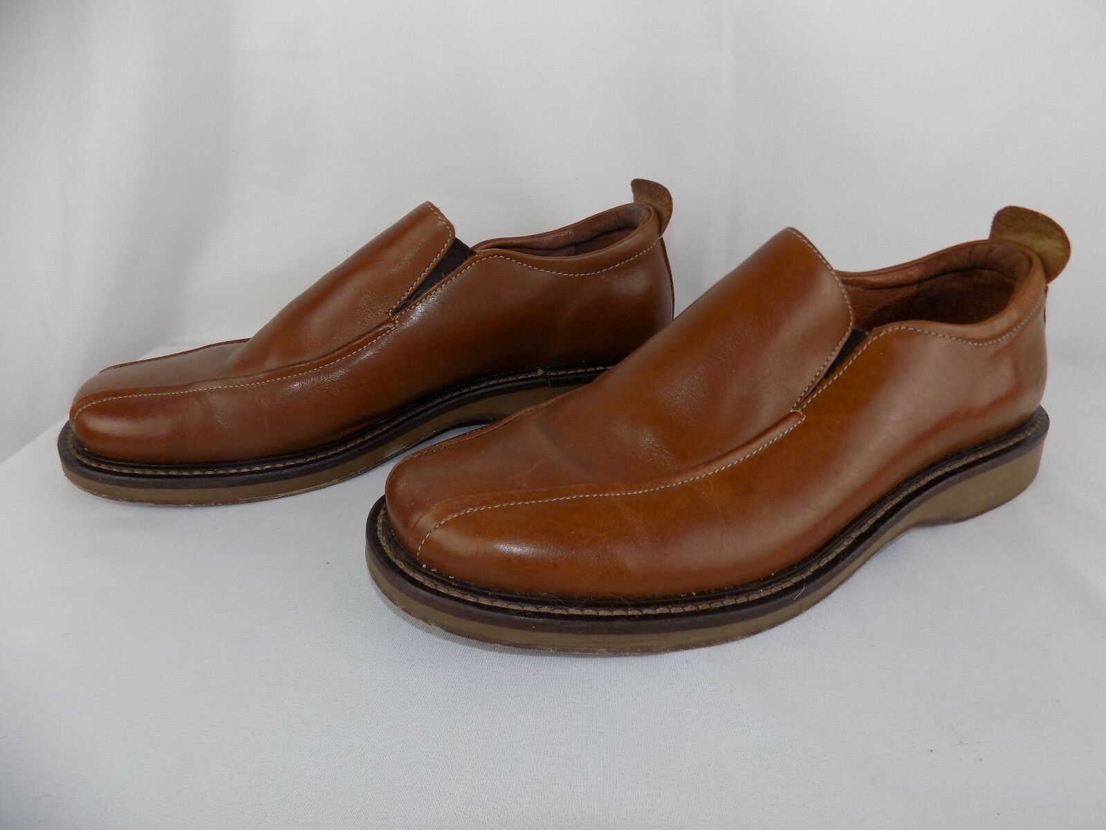Skechers Collection Men's SZ 10.5 Brown Leather Shoes Loafers