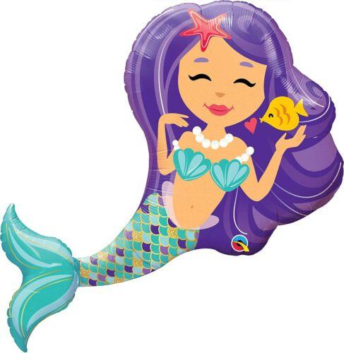 environ 96.52 cm Qualatex Feuille Ballons ballon Enchanting Mermaid 38 in