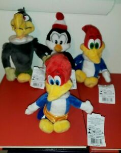 Ty Beanie Babies Woody Woodpecker, Winnie, Chilly Willy & Buzz Excl NO HANG TAGS