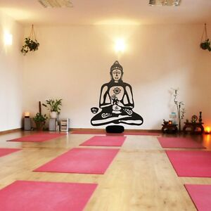 Details about Removable Buddha Wall Decal Inspired Buddhism Statue Vinyl  Living Room Art Decor