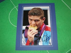 Hull Boxer Luke Campbell Signed & Mounted London 2012 Olympic Medal Photograph