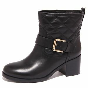8656P biker MASSIMO SANTINI nero stivaletto donna boot woman [39]