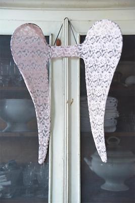 Jeanne d Arc`living Engelsflügel Schwarz Spitze 20c Shabby Brocante Angel Wings