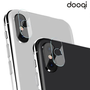 purchase cheap 3b5da 9164b Details about Dooqi Rear Back Camera Lens Tempered Glass Protector For  Apple iPhone X / XR