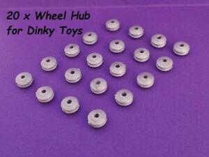 20-X-Rueda-Hubs-Dinky-Toys-Acanalada-Cubo-de-rueda-ejes-camiones-de-coches-Fit-2mm-camion-039-s