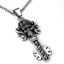Skull Key Necklace Stainless Steel 20 Inch Chain