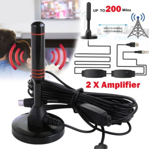 Antenna 1080P TV Digital HD 200 Mile Range Skywire TV Indoor 16ft Coax Cable HOT
