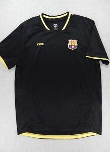 best service 344be 2fb74 Details about FC Barcelona Replica Soccer Jersey (Adult Large) Black