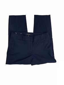 Ann-Taylor-Kate-Fit-Women-s-Size-6-Solid-Navy-Blue-Cropped-Chinos-Pants