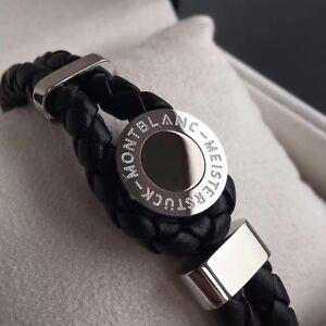Montblanc Bracelet Leather Meisterstuck Iconic Black Onyx Model