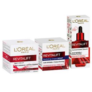 L'Oreal Paris Revitalift Day Cream + Night + Serum Anti-Ageing Set