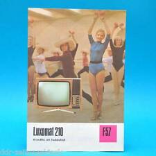 Fernsehtischgerät Luxomat 210 DDR 1975 61-Röhre | Prospekt Werbung DEWAG F57 B